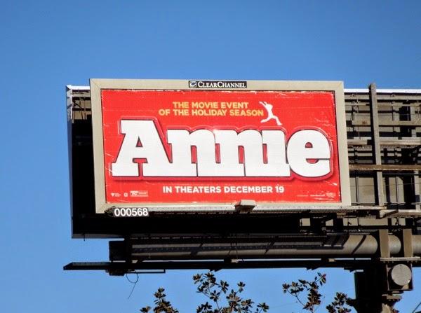 Annie 2014 movie billboard