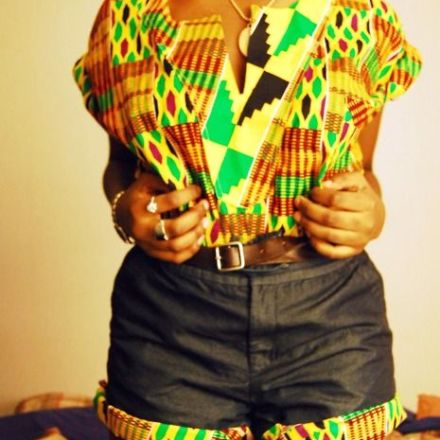 kente short set