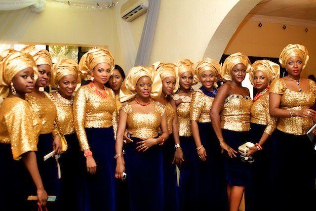 10 Gorgeous Photos Of Nigerian Aso-Ebi (aka Bridesmaids