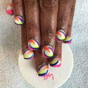 wear bubble nails