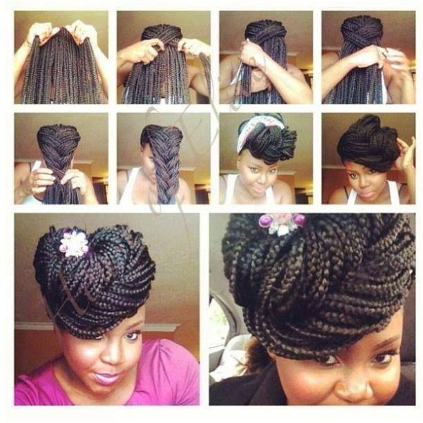 10 Gorgeous Ways to Style Box Braids Black Girl with Long Hair