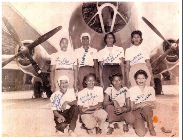 IAM members from District Lodge 751 were among the African-American Rosie the Riveters who played a large part in building planes during WWII. Source