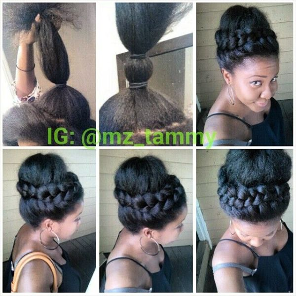 Marvelous 10 Gorgeous Photos Of French And Dutch Braid Updos On Natural Hair Hairstyle Inspiration Daily Dogsangcom