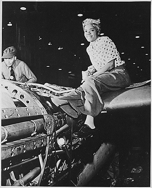 Riveter at Lockheed Aircraft Corporation in Burbank, Calif Source