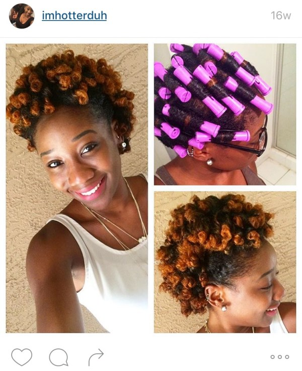 14 Defined And Undefined Roller Sets On 4c Hair Black