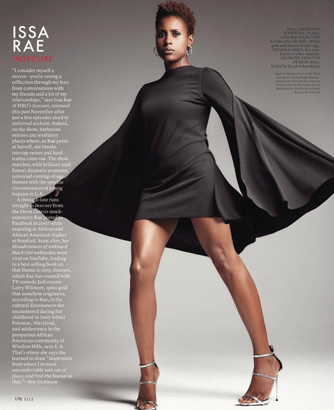 Issa Rae Is the Definition of Slay in Elle Magazine