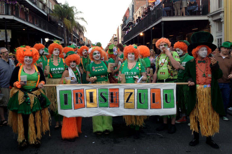 White St. Patrick's Day Participants Tried To Columbus 100-Year-Old Black New Orleans Zulu Traditions