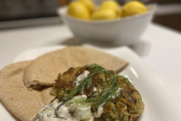 Falafel with Cucumber Dill Dressing