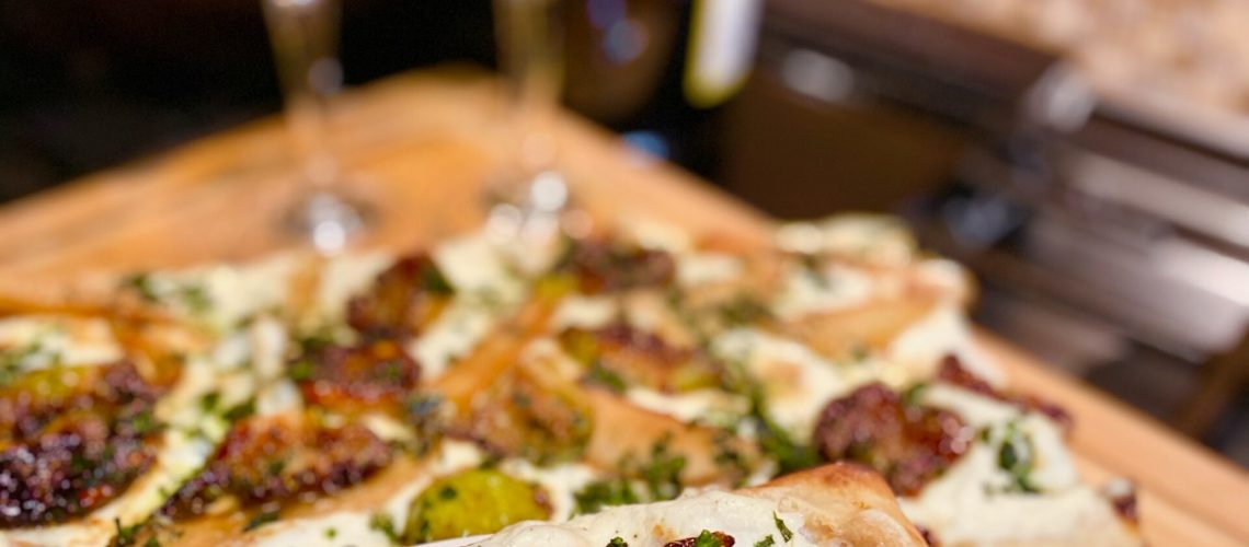 Vegan Pizza with Ricotta Fig and Pear