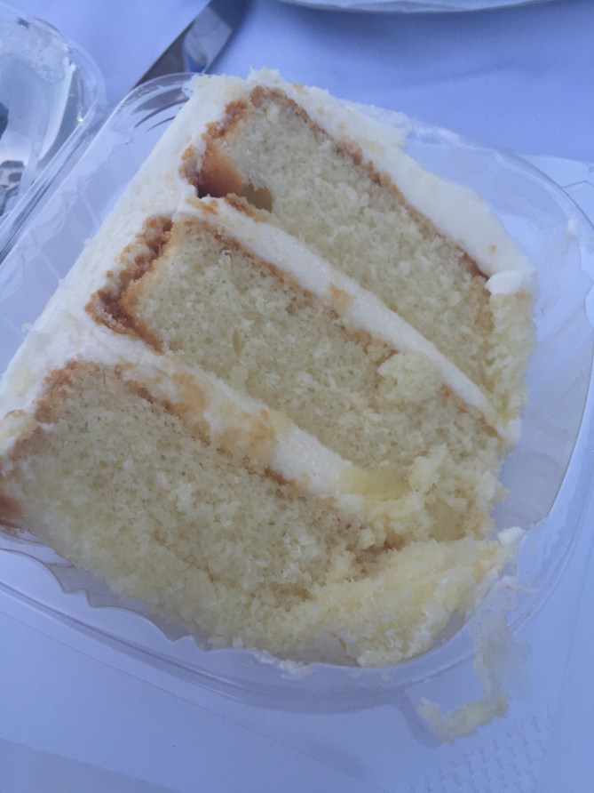 A slice of white cake from Dessert Gallery will still be my last course! YUMMY