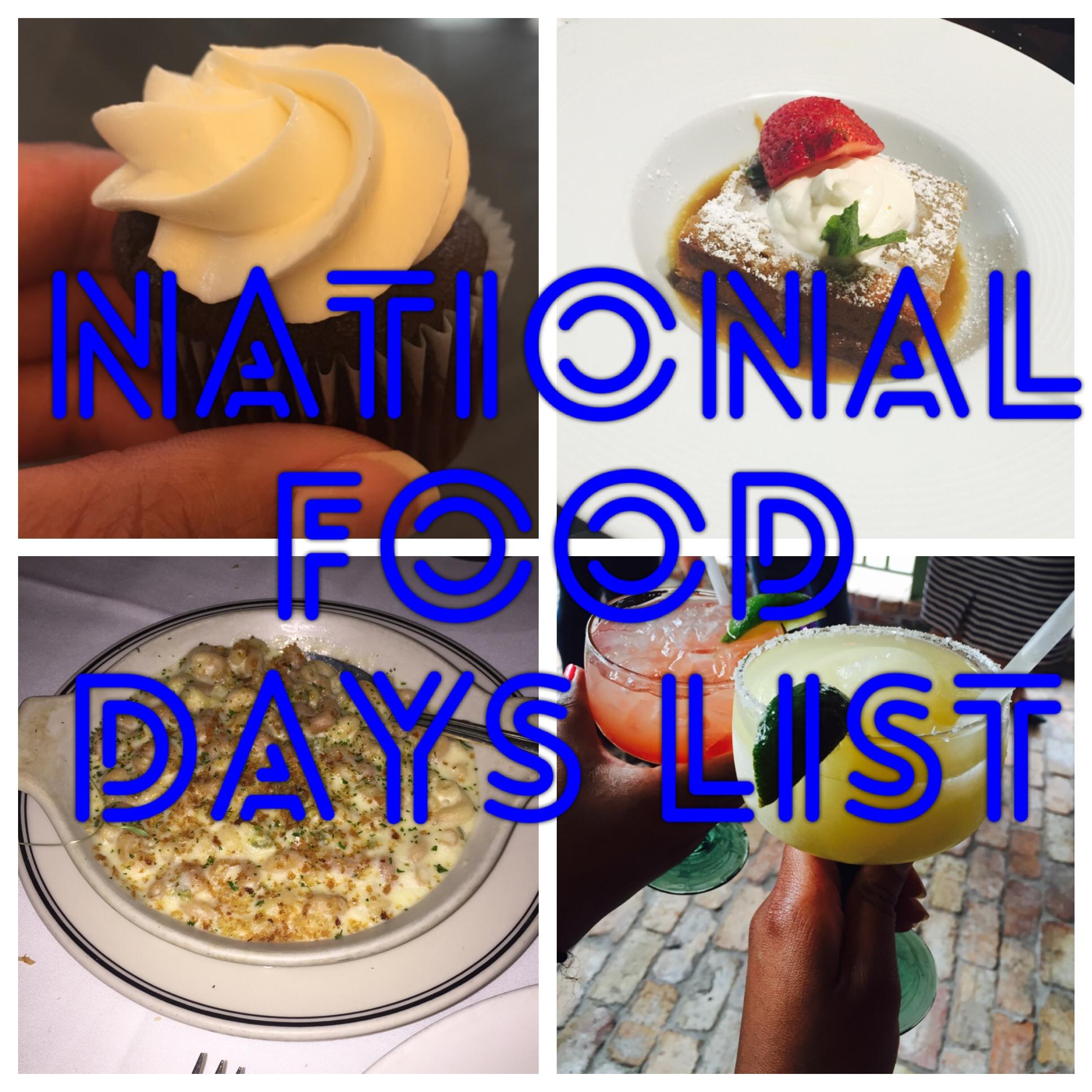 List of food days