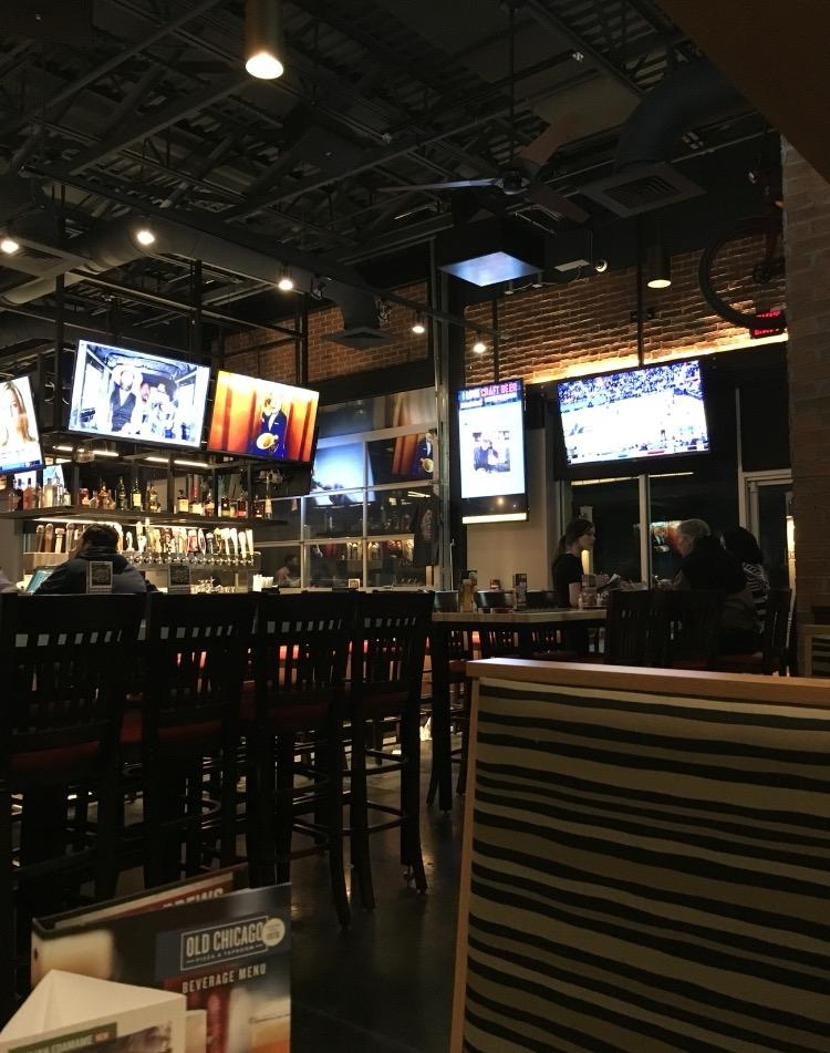 The bar area. Plenty of tvs!