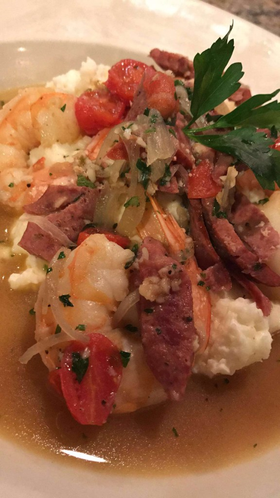 The shrimp and grits!