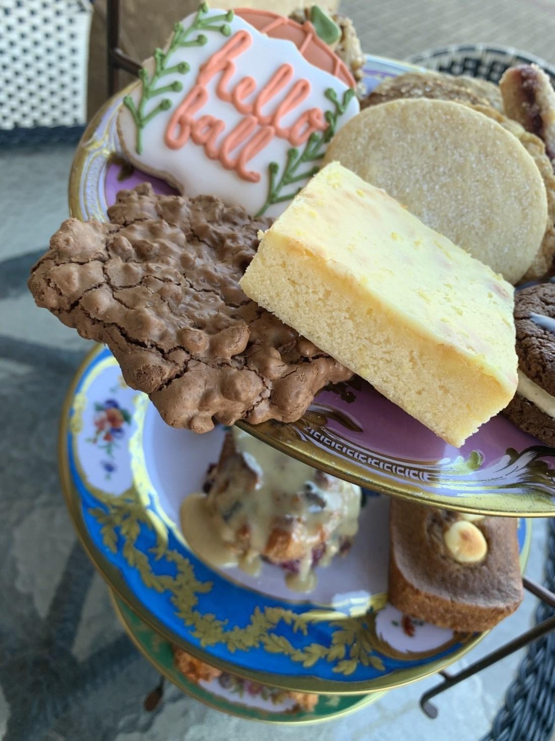 Plate of cookies and brownies