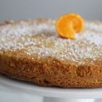 Almond Flour Olive Oil Cake with Orange Garnish
