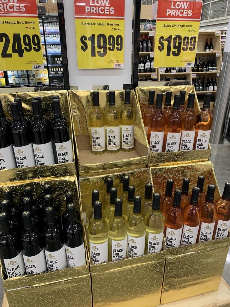 Black Girl Magic Wine Bottles