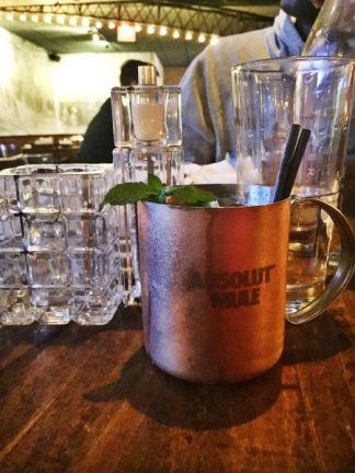 absolut moscow mule copper mug