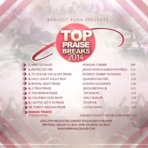 Earnest Pugh - Top 10 Praise Breaks 2014