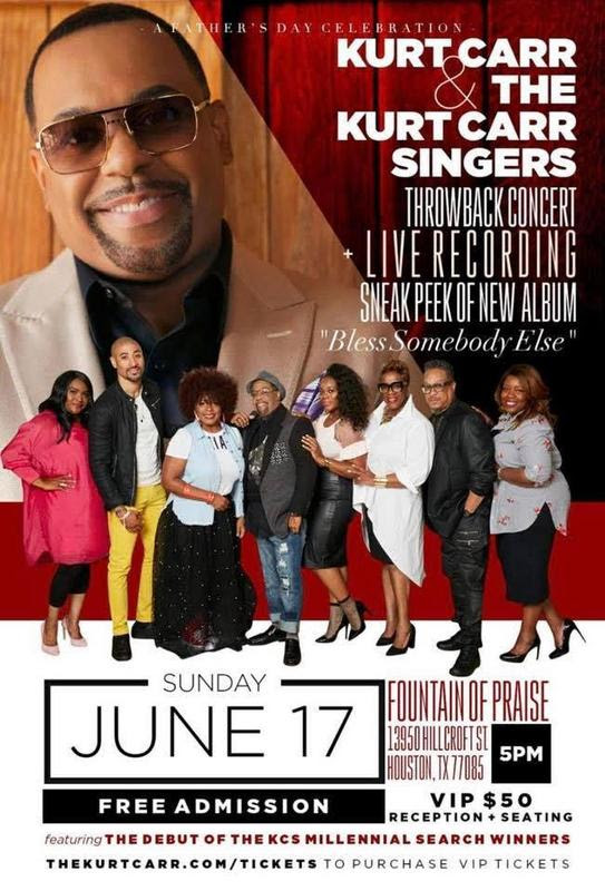 Kurt Carr Gears Up For LIVE Recording June 17th, 2018