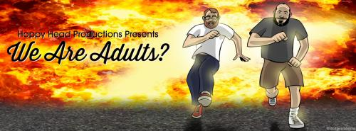 """""""We Are Adults?"""" podcast artwork"""