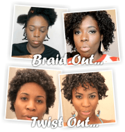 twist outs braid natural