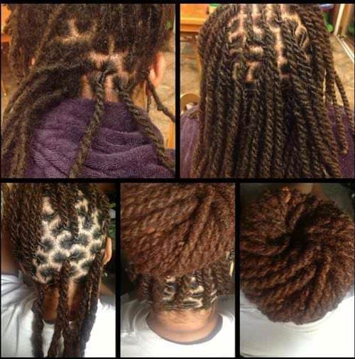 Two strand twists with locs so pretty  Black Hair Information