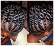 flat twist updo shared tamika