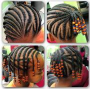 cute kids style braids and beads