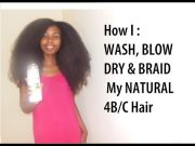 wash blow dry and braid