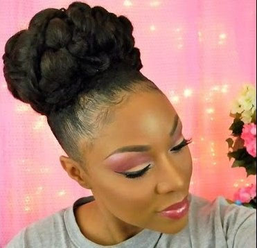 Gorgeous Bridal Bun For Medium Length Natural Hair