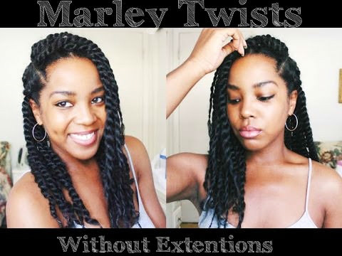 No Extension Marley Twists On Natural Hair