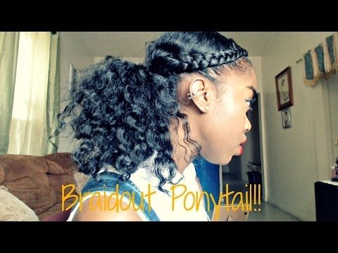 cute braidout ponytail on natural hair