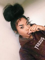 big messy bun - black hair information