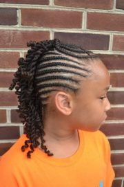 braided mohawk with two strand