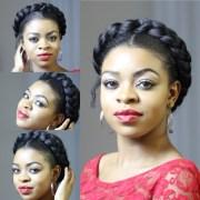 faux goddess braid natural hair