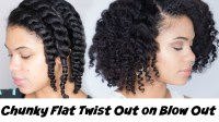 How To: Chunky Flat Twist Out on Blown Out Natural Hair ...