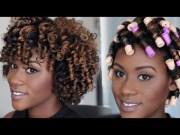 natural hair tutorial perm rod