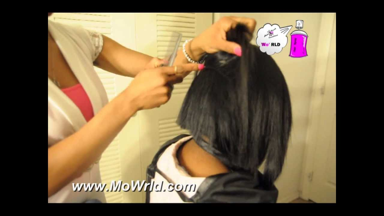 Quick Weave Bob With Invisible Part No Leave Out Video