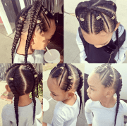 cute braids bylauren - black