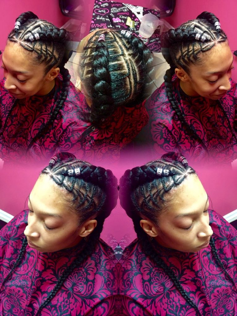 Freehand Feed In Stitch Braids Tzipporahbraidingstudio