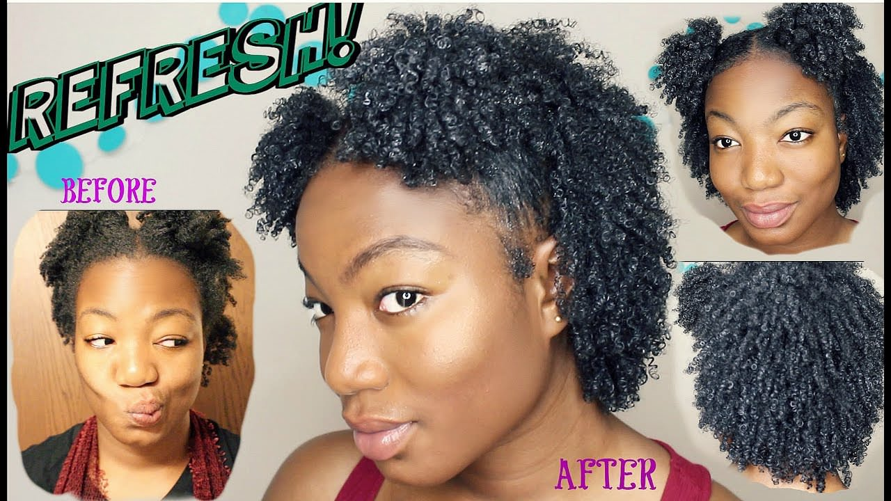 Natural Hair How to REFRESH your Wash n Go without gel