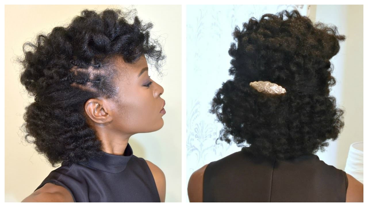 Curls And Side Braids On 4c Natural Hair Video  Black