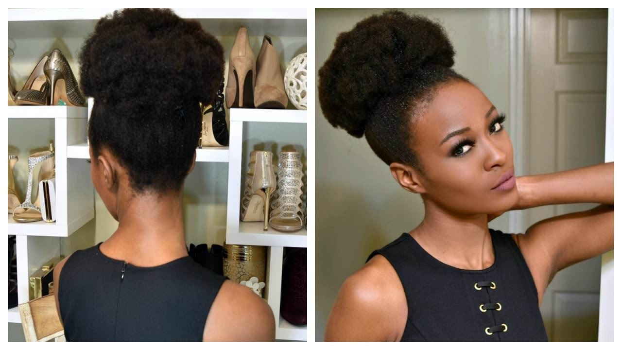 Fake A Big Puff With Clip Ins For 4b And 4c Natural Hair