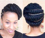 natural hair flattwist updo protective