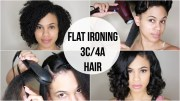 curly straight flat ironing