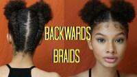 BACKWARDS BRAID INTO A BUN [Video] - Black Hair Information