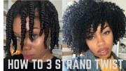 beautiful 3 strand twist
