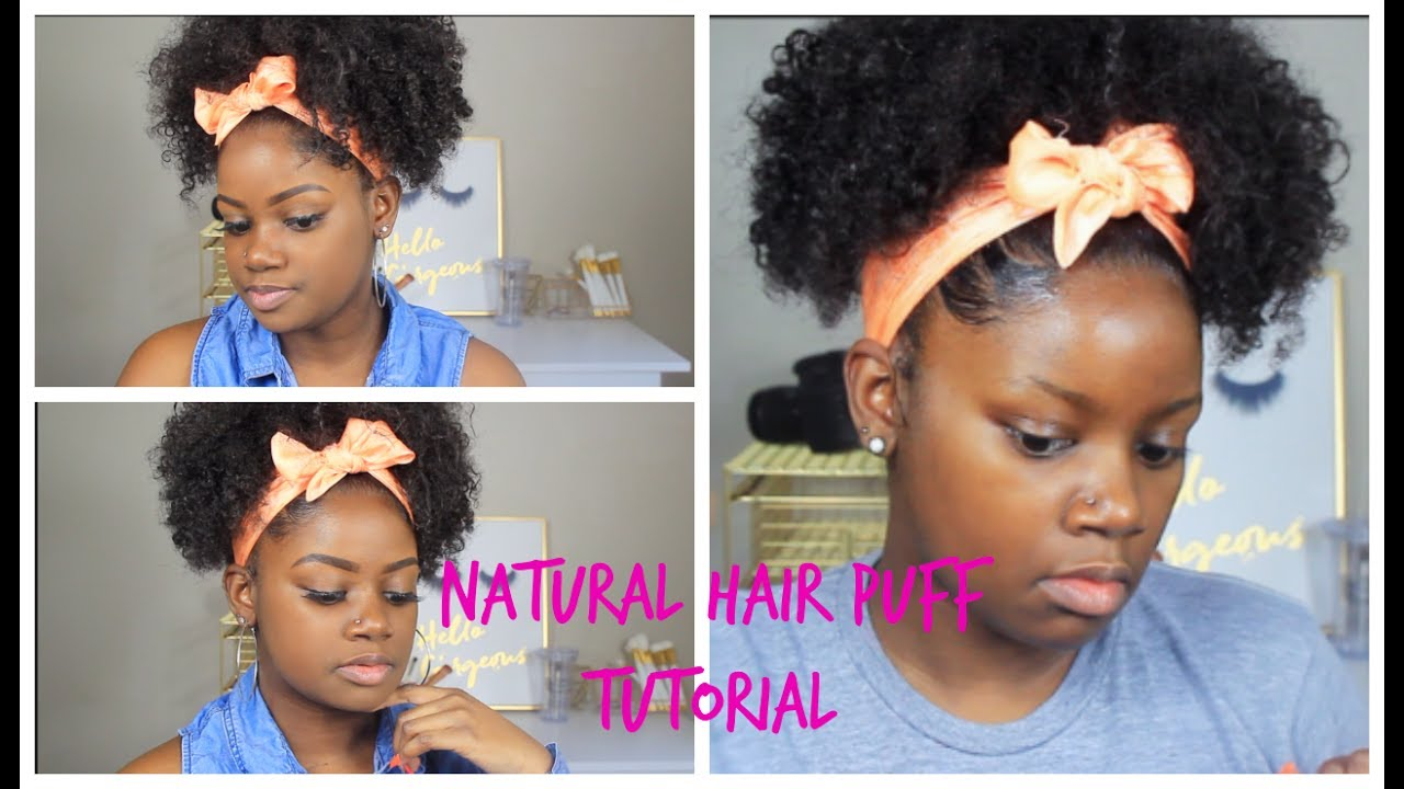 Quick And Easy Summer Natural Hairstyle Puff Ponytail Video