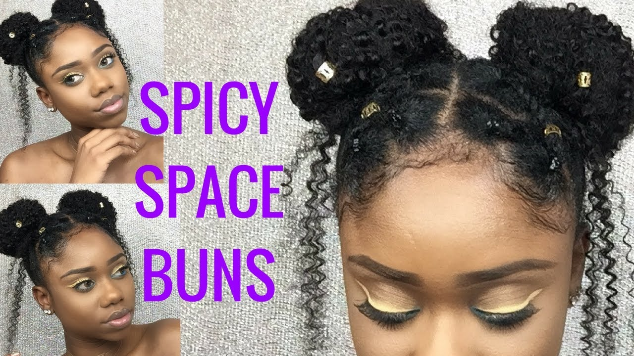 Cute Hairstyle For Short 4c B A Natural Hair Spicy Space Buns