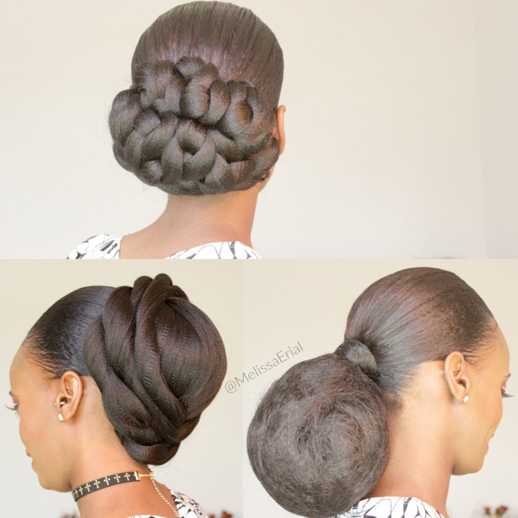Natural Hair How To 3 Low Bun Styles Black Hair Information
